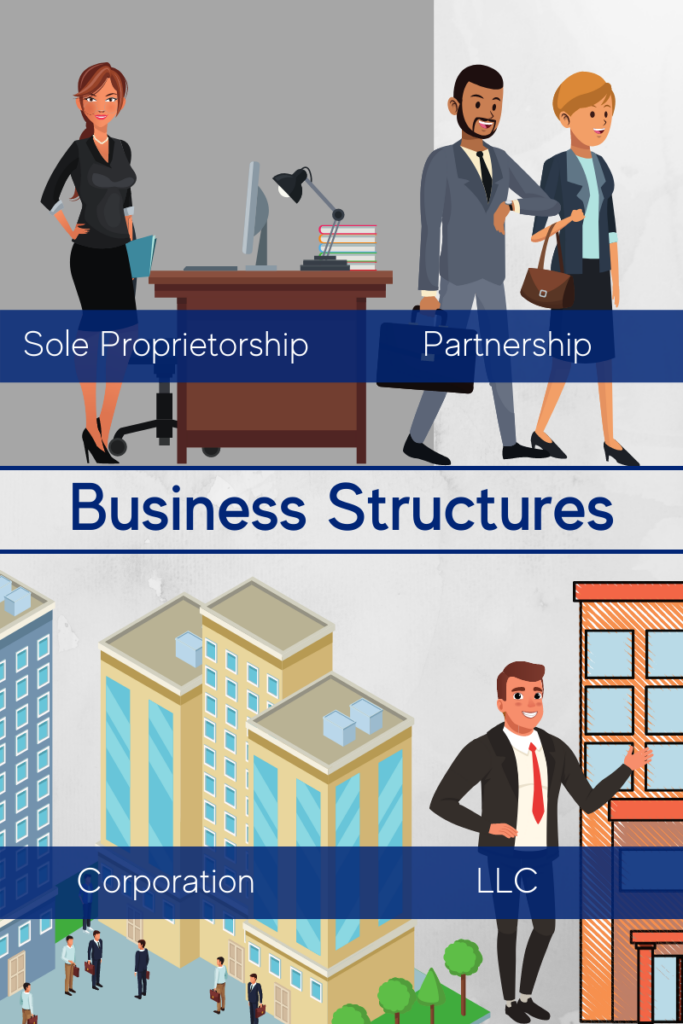 There are 4 main business formation structures