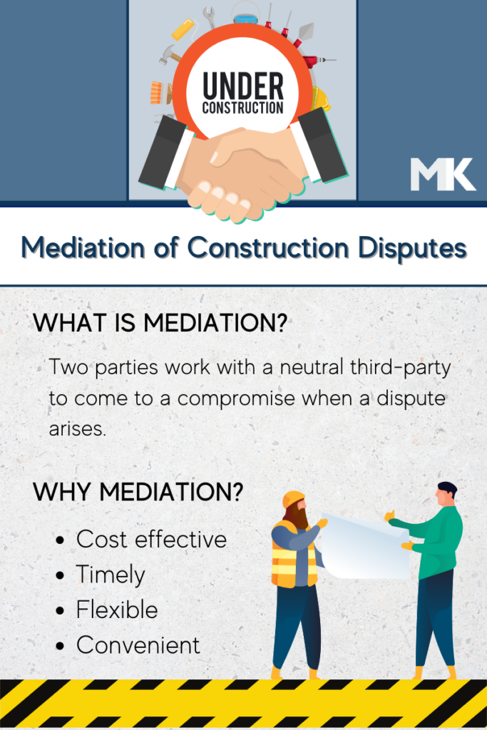 Mediation of construction disputes can be a preferred method of dispute resolution